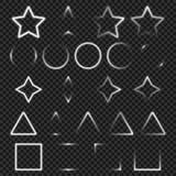 Objets légers de la géométrie réglés pour votre conception illustration stock
