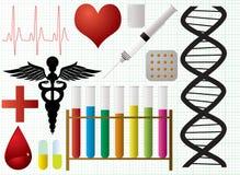 Objets médicaux Photo stock