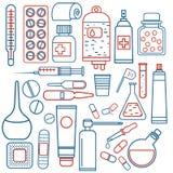 Objets médicaux réglés Photo stock