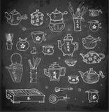 Objets orientaux de cérémonie de thé Images libres de droits