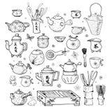 Objets orientaux de cérémonie de thé Image stock