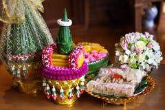 Objets pour la cérémonie de mariage thaïe Image stock