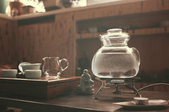 Objets pour la cérémonie de thé images stock