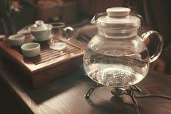 Objets pour la cérémonie de thé Photos libres de droits