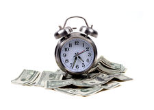 Objets - temps et argent photos libres de droits