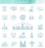 Objets traditionnels de Canada de voyage Image stock