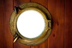 Oblò d'ottone Fotografia Stock Libera da Diritti