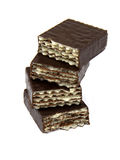 Oblatebonbons in der Schokolade stockfotografie