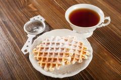 Oblaten und Tee Lizenzfreie Stockfotos