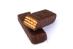 Oblea del chocolate Imagenes de archivo