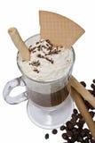 Obleas con café. Imagen de archivo libre de regalías