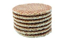 Obleas del caramelo en una pila Fotos de archivo libres de regalías