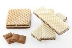 Obleas del chocolate Imagenes de archivo