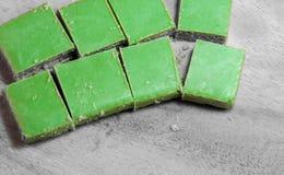 Obleas del té verde de Matcha Imagen de archivo libre de regalías
