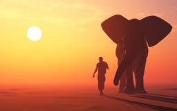 Oblicza słonia ilustracja wektor