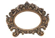 Obliczająca dekoracyjna złoto brązu rama dalej odizolowywa obraz stock