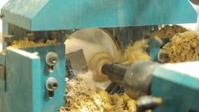 Obliczający rozcięcie na drzewie maszynowi cięcia postać od drzewa CNC maszyna, meblarska fabryka maszynowi cięcia a zdjęcie wideo