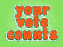 obliczenia głosują twój Fotografia Royalty Free