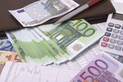 obliczenie pieniądze zdjęcie stock