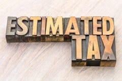 Obliczony podatku słowa abstrakt w drewnianym typ obraz royalty free