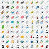 100 obligation icons set, isometric 3d style. 100 obligation icons set in isometric 3d style for any design vector illustration Stock Photos