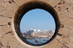 The obligatory porthole shot stock image