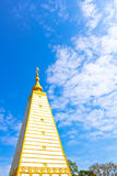 Obligue view of white pagoda Stock Photos