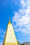Obligue view of white pagoda Stock Photos