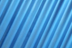 Oblique blue metal sheet texture Royalty Free Stock Images