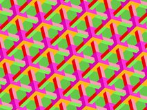 Oblique Bright Cube Lattice vector illustration