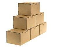Oblique cardboard pyramid Stock Image