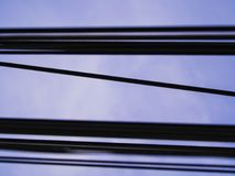 Oblique Cord between Wires Several Lines. The Oblique Cord between Wires Several Lines Royalty Free Stock Images