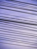Oblique Cord between Wires Several Lines. The Oblique Cord between Wires Several Lines Royalty Free Stock Photos