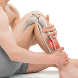 Oblique Fracture of the Tibia - Leg Fracture 3D illustration Royalty Free Stock Photography