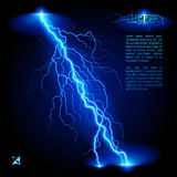 Oblique lightning line Royalty Free Stock Photography
