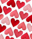 Oblique pattern made of hearts. Valentines Day Stock Image