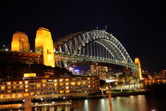 Oblique of Sydney Harbour Bridge Royalty Free Stock Image