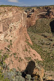 Oblique View of a Desert Canyon. In Canyon de Chelly in Arizona Royalty Free Stock Photography