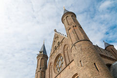 Oblique view of the Hall of Knights (Ridderzaal) in The Hague, N Stock Photos