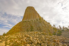 Oblique View of a Rocky Pinnacle Royalty Free Stock Photography