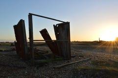 Obliteration на заходе солнца Стоковые Фотографии RF