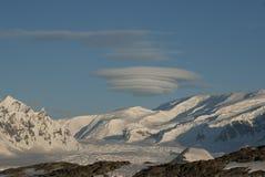 Obloka lenticolare sopra l'Antartide. Fotografia Stock Libera da Diritti