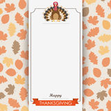 Oblong Banner Foliage Thanksgiving Turkey Stock Images