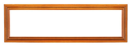 Oblong-shaped wooden frame Royalty Free Stock Images