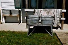 Obmycie balii ustawianie dla pralnianego dnia Obraz Stock