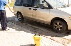 Obmycie samochód Fotografia Royalty Free