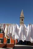 Obmycie w Burano wyspie, Wenecja zdjęcia stock