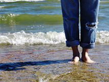 obnaż plażowych stopy Obraz Royalty Free