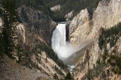 Obniża spadku Yellowstone rzekę Zdjęcia Stock