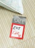 Obniżona metka w UK sklep sprzedaży zdjęcia stock